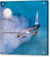 Leavin' On A Jet Plane Acrylic Print by Rebecca Cozart
