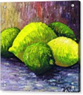 Lemons And Limes Acrylic Print by Kamil Swiatek