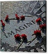 Lennon Memorial Acrylic Print by Chris Lord