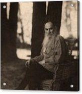 Leo Tolstoy 1828-1910 Russian Novelist Acrylic Print by Everett