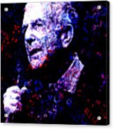 Leonard Cohen Acrylic Print by Tammera Malicki-Wong