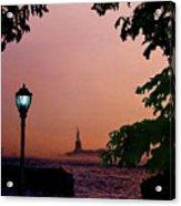 Liberty Fading Seascape Acrylic Print by Steve Karol