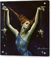 Libra From Zodiac Series Acrylic Print by Dorina  Costras