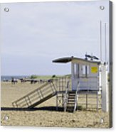 Lifeguard Station At Skegness Acrylic Print by Rod Johnson