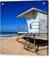 Lifeguard Tower Photo Acrylic Print by Paul Velgos