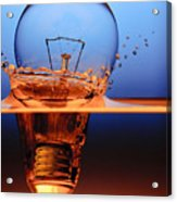 Light Bulb And Splash Water Acrylic Print by Setsiri Silapasuwanchai
