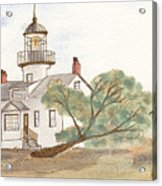 Lighthouse Sketch Acrylic Print by Ken Powers
