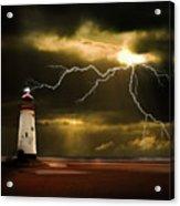 Lightning Storm Acrylic Print by Meirion Matthias