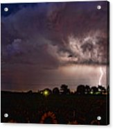 Lightning Stormy Weather Of Sunflowers Acrylic Print by James BO  Insogna