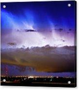 Lightning Thunder Head Cloud Burst Boulder County Colorado Im39 Acrylic Print by James BO  Insogna