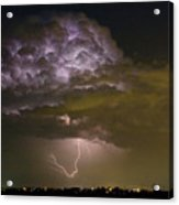 Lightning Thunderstorm With A Hook Acrylic Print by James BO  Insogna