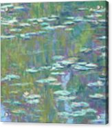 Lily Pond 2 Acrylic Print by Michael Camp