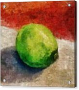 Lime Still Life Acrylic Print by Michelle Calkins