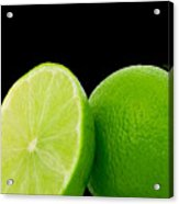 Limes Acrylic Print by Cheryl Young