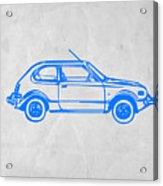 Little Car Acrylic Print by Naxart Studio
