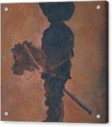 Little Rider Acrylic Print by Leslie Allen