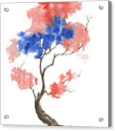 Little Zen Tree 291 Acrylic Print by Sean Seal