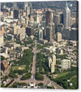 Live 8 Concert Philadelphia Ben Franklin Parkway 2 Acrylic Print by Duncan Pearson
