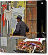 Living The Old Shanghai Life Acrylic Print by Christine Till