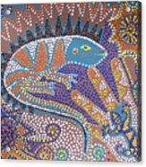 Lizard Dreaming Acrylic Print by Vijay Sharon Govender