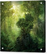Llanowar Reborn Acrylic Print by Philip Straub