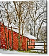 Loafing Shed Acrylic Print by Marilyn Hunt