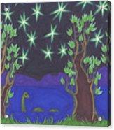 Loch Ness Night Acrylic Print by James Davidson