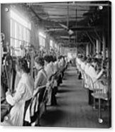 Lock And Drill Department Assembly Line Acrylic Print by Everett