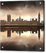 London - The Houses Of Parliament  Acrylic Print by Jaroslaw Grudzinski