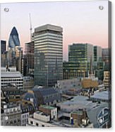 London Panorama From The Monument Acrylic Print by Romeo Reidl
