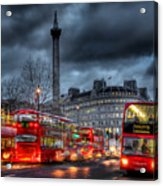 London Red Buses Acrylic Print by Jasna Buncic