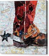 Lone Star Spur Acrylic Print by Suzy Pal Powell