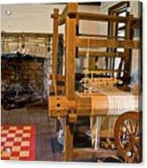 Loom And Fireplace In Settlers Cabin Acrylic Print by Douglas Barnett