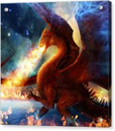 Lord Of The Celestial Dragons Acrylic Print by Philip Straub