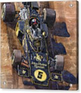 Lotus 72 Canadian Gp 1972 Emerson Fittipaldi  Acrylic Print by Yuriy  Shevchuk