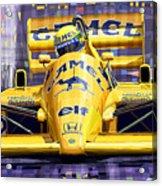 Lotus 99t Spa 1987 Ayrton Senna Acrylic Print by Yuriy  Shevchuk