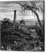 Louisiana: Steamboat Wreck Acrylic Print by Granger