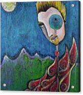 Love For Birdman Acrylic Print by Laurie Maves ART