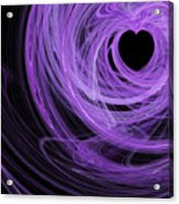 Love Swirls . Square . A120423.689 Acrylic Print by Wingsdomain Art and Photography