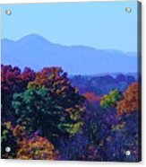 Lovely Asheville Fall Mountains Acrylic Print by Ray Mapp