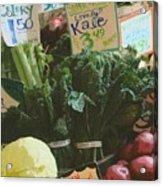Lovely Kale Acrylic Print by Lydia L Kramer