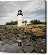 Low Angle View Of The Marshall Point Lighthouse Maine Acrylic Print by George Oze