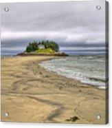 Low Tide In Popham Beach Maine Acrylic Print by Tammy Wetzel
