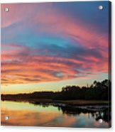 Lowcountry Sunset Charleston Sc Acrylic Print by Dustin K Ryan
