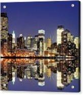 Lower Manhattan Skyline Acrylic Print by Sean Pavone