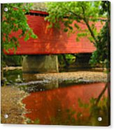 Loys Station Bridge. Thurmont Maryland Acrylic Print by Matthew Saindon