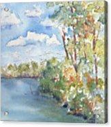 Lucien Lake Shoreline Acrylic Print by Pat Katz