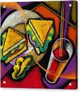 Lunch Acrylic Print by Leon Zernitsky