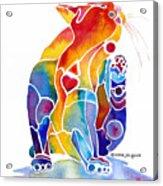 Luv Cat Acrylic Print by Jo Lynch