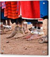 Maasai Feet Acrylic Print by Adam Romanowicz